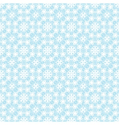 Lace white pattern on blue background vector