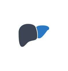 Liver related glyph icon vector