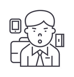 Managerceo line icon sign vector