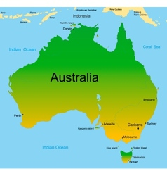 map of australian continent vector image