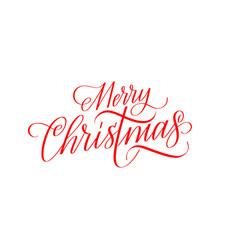 merry christmas calligraphy seasons greetings vector image