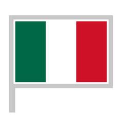 Mexico flag on flagpole icon vector