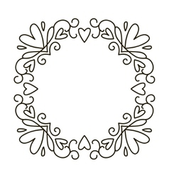mono line frame vector image vector image