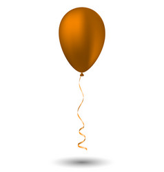 Orange balloon on white background vector