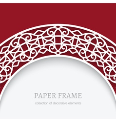 Paper lace background vector image