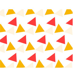 Pattern yellow pink beige randomly scattered vector