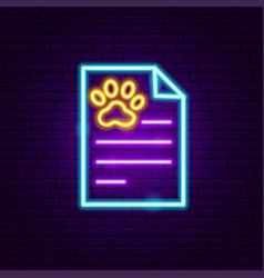 pet vet blank neon sign vector image
