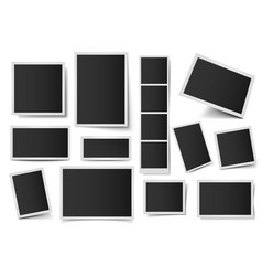 photo card frames rectangular instant photos vector image