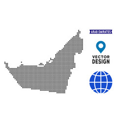 Pixelated arab emirates map vector