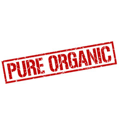 Pure organic stamp vector