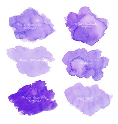 Purple abstract watercolor background vector