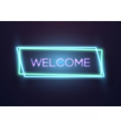 Realistic Neon Frame Icon vector