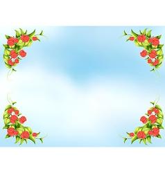 Rose frame vector
