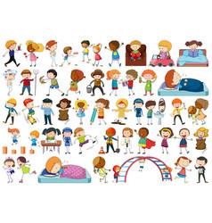 set different kids vector image