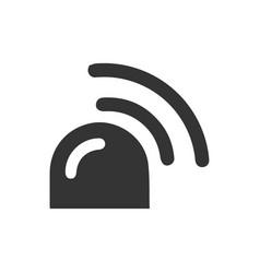 Siren icon vector