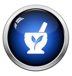 Spa mortar icon vector