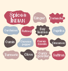 Speech text lable cuisine spice set collection vector