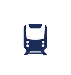 Subway train icon on white vector