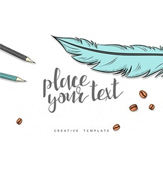Template design concept sketch for marketing vector image