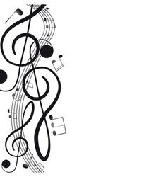 Treble clef for your design A vector