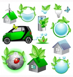 vector eco icons and concepts vector image