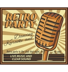 Vintage banner retro party vector
