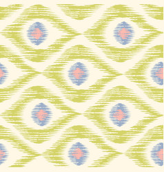 Vintage texture in ikat pattern vector