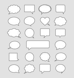 white bubble speech set vector image