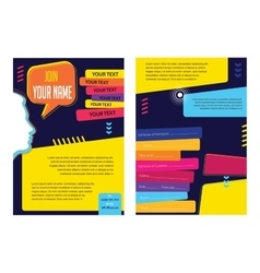 Business infographic concept layout for vector image vector image