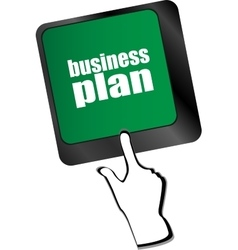business plan button on computer keyboard key vector image