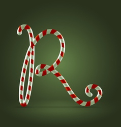 Candy cane abc R vector image vector image