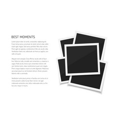 Collect moments set isolated photos retro vector