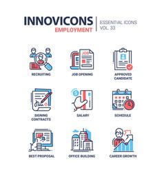 Employment- modern line icons set vector