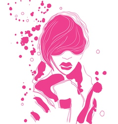 Fashionable vector image