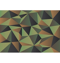 Green Camouflage Polygon Background vector image