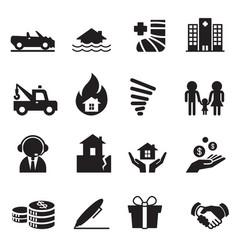 insurance icons symbol set 2 vector image
