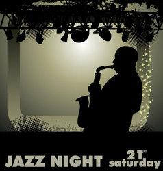 jazz musician vector image vector image