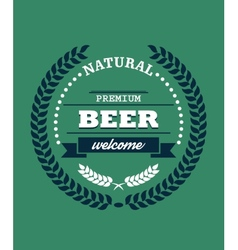 Natural Premium Beer label vector image vector image