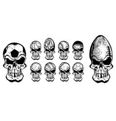 ball skulls vector image