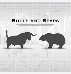 finance market background vector image