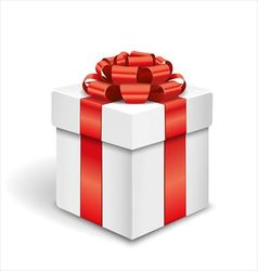 Gift box on white background vector image vector image