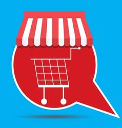Label with shopping cart vector image vector image