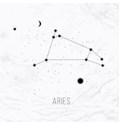 Astrology sign Aries on white paper background vector image