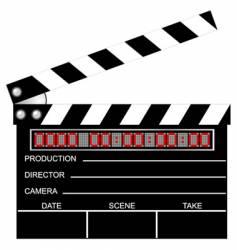 digital clapboard vector image vector image