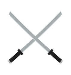 Japanese swords icon cartoon vector image