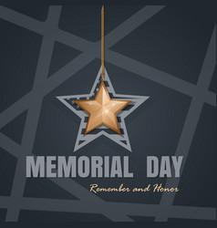 memorial day card design vector image