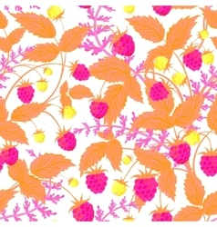 raspberry pattern doodle seamless pattern vector image vector image