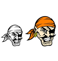 Caribbean danger pirate in cartoon style vector image