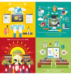 Education online education professional education vector image vector image