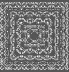 fine floral square frame decorative vector image vector image